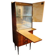 Midcentury Dry Bar Cabinet, Cocktail Bar Cabinet, Dassi's or Paolo Buffa's Style
