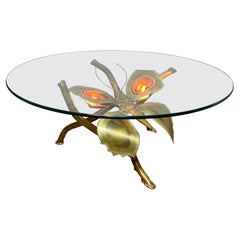 Jacques Duval Brasseur Illuminated Butterfly Coffee Table