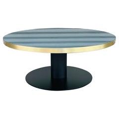 Gubi 2.0 Coffee Table in Brass, Glass & Steel, New