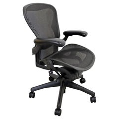 Contemporary Herman Miller Aeron Rolling Swivel Adjustable Office Chair 1990s
