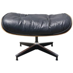 Rosewood and Leather Ottoman by Charles and Ray Eames for Herman Miller