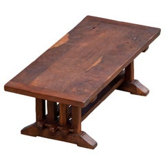 19th Century Low Table Antique Sofa Table Coffee Table/ Rustic
