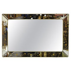 Vintage Venetian Mirror Frame Hollywood Regency Wall Sofa Mirror by Nurre Co.