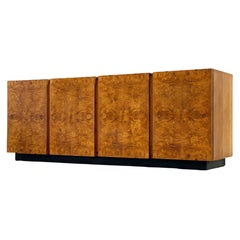 Midcentury Burl Wood Credenza by Roland Carter for Lane, circa 1975