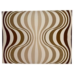 "Rare Verner Panton ""Onion"" Mid-Century Stretched Textile Art"