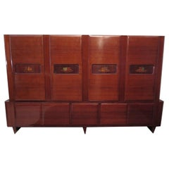 Italian Manufactory Midcentury Walnut Bookcase, 1950