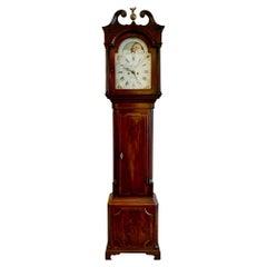 Impressive Mahogany Moon Phase Grandfather Clock by Clare Warrington Sweep