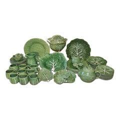 Palm Beach Style Cabbage or Lettuce Tableware Set Bordallo Pinheiro, Portugal