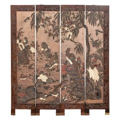 Exceptional Asian Four Panel Screen
