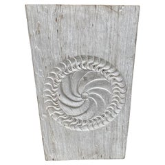 Andrianna Shamaris Antique White Washed Merbau Wood Carved Panel