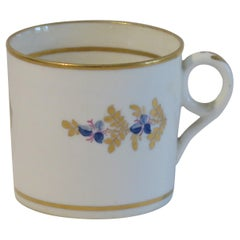 George 111 Early Minton Porcelain Coffee Can Hand Painted  Pattern 76, Ca 1805