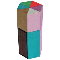 Multi Color Origami Hexagonal Matchbox with Fitted Color Matches