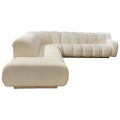 Directional Channel Sofa Sectional in the Iconic Style of Steve Chase