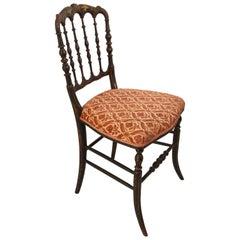 Chiavari Ebonized Side Chair by Gaetano Descalzi, Italy, 19th Century