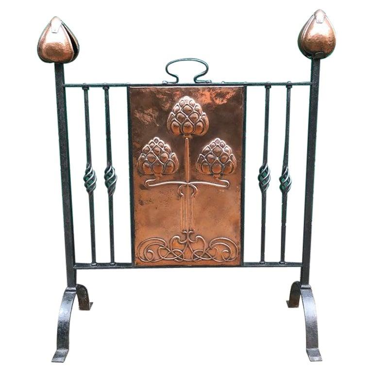 Art Nouveau Fire Screen