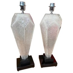 Toso, Pair of Murano Lamps, 1980