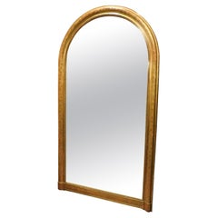 Antique Arched Mirror with Golden Frame, 19th Century Italy