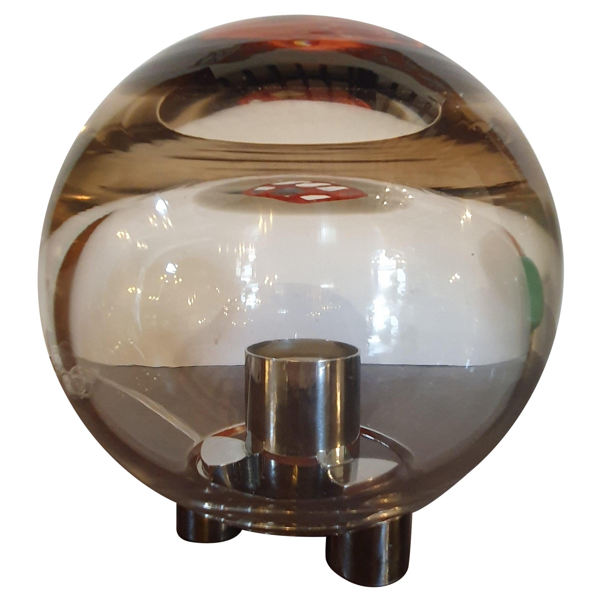20th Century Venini Murano Blown Glass Table Lamp, Italy, 1976