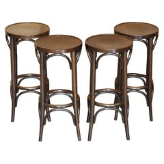 Four Vintage Bentwood Thonet Bar Stools Lovely Suite Very Comfortable X4