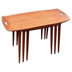 Arne Jacobsen Teak Nesting Tables, 1960´S