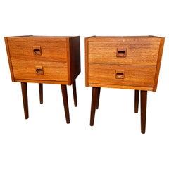Pair of Two Drawer Teak Nightstands, 1960´S