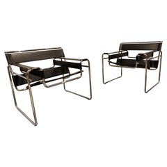 Pair of Wassily Armchairs by Marcel Breuer, 1990s