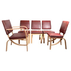 Set of 5 Rohde for Heywood Wakefield Dining Chairs
