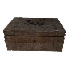 French Black Forest Wood Box with Blackberries, circa 1900