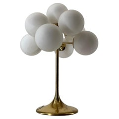 Large Atomic Max Bill Brass Table Lamp by BAG Turgi, Switzerland, 1960s