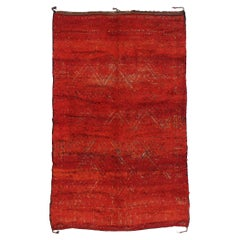 Vintage Beni M'Guild Zayane Moroccan Rug with Tribal Style
