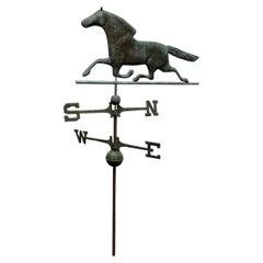 Antique Bronze Horse Weathervane