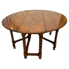 Large Antique Quality Oak Wake Table