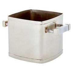 Capa Ice Bucket, Alpaca Silver & Gray Marble