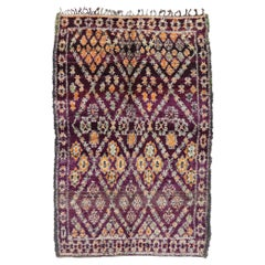 Vintage Berber Beni M'Guild Moroccan Rug with Bohemian Tribal Style