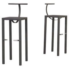 80s Philippe Starck 'sarapis' Bar Stool for Aleph Ubik