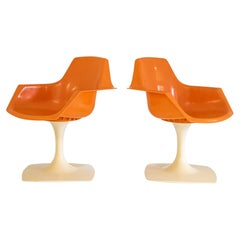 Pair of Swivel Chair 206 by Henri Massonet for Stamp, 1971, France