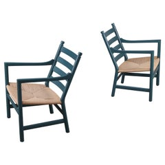 Pair of CH44 Lounge Chairs by Hans J. Wegner, Denmark, 1960s