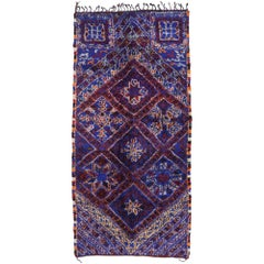 Vintage Berber Beni M'Guild Moroccan Rug with Tribal Style