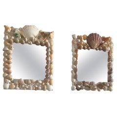 Pair of Elegant Shell Mirrors