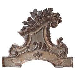 "18th Century Monumental XL Italian Rococo Carved Wood ""Supra Porte"" Ornament"