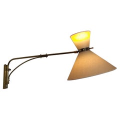 1950s Articulated Sconce by Maison Lunel