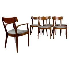 Kipp Stewart Drexel Declaration Sculpted Walnut Dining Chairs