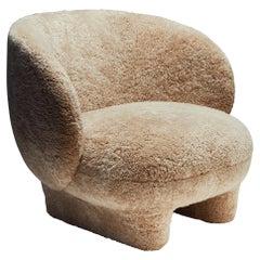 La Manufacture-Paris Moro Sheepskin Armchair Designed by Sebastian Herkner
