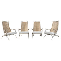 Set of Four Steel Bronze Tarku Lounge Chairs by Ironies