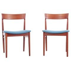 Mid-Century Modern Scandinavian Pair of Chairs in Teak by Harry Rosengren Hansen