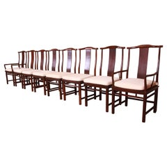 Michael Taylor for Baker Far East Collection Dining Chairs, Set of Eight