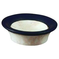 "21st Century by Sergio Asti ""PORTASAPONE"" Bathroom Fixtureres Marble Soap Dish"