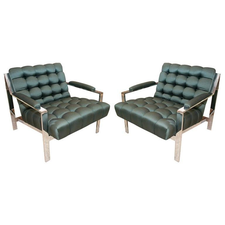 Pair of Lounge Chairs by Cy Mann For Sale
