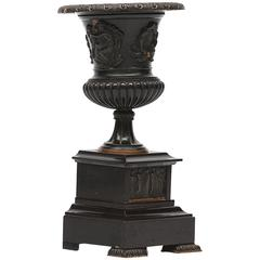 19th Century Bronze Campagna Shaped Urn