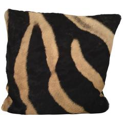 Vintage Zebra Hide Throw Pillow